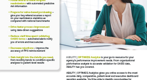 ABILITY OPTIMIZE® Analytics