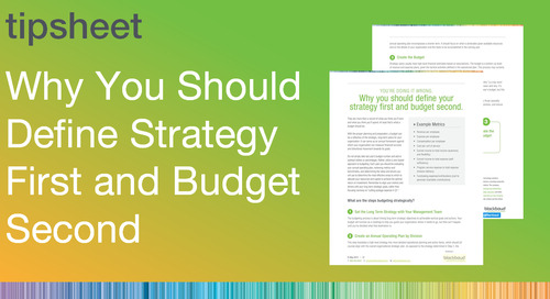 Why You Should Define Strategy First and Budget Second
