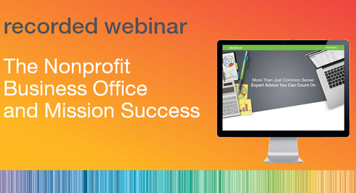 The Nonprofit Business Office and Mission Success