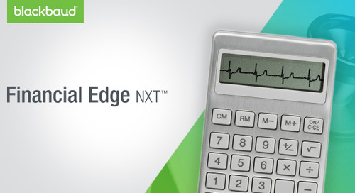 11.14.18 @ 1pm ET | Financial Edge NXT for Healthcare Foundations