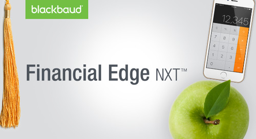 5.17.18 @ 2pm ET | Intro to Financial Edge NXT for Higher Education Institutions
