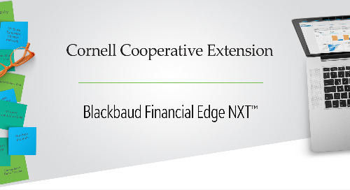 Increasing Operational Efficiency: Cornell Cooperative Extension and Blackbaud Financial Edge NXT