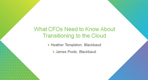 bbcon Encore: What CFOs Need to Know About Transitioning to the Cloud