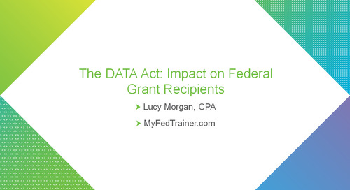 bbcon Encore: The Impact of the DATA Act on Federal Grant Recipients