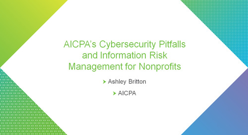 AICPA's Cybersecurity Pitfalls and Information Risk Management for Nonprofits