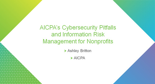 bbcon Encore: AICPA's Cybersecurity Pitfalls and Information Risk Management for Nonprofits