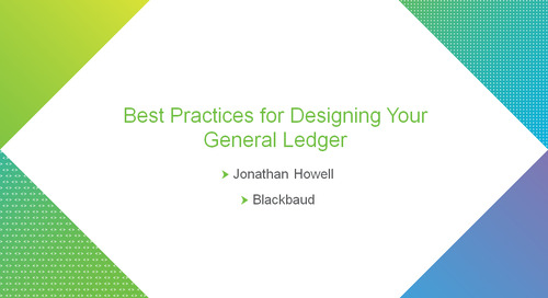 bbcon Encore: Best Practices in General Ledger Design