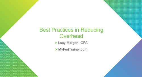 bbcon Encore: Best Practices in Reducing Overhead