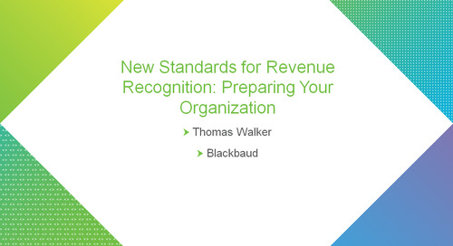 New Standards for Revenue Recognition