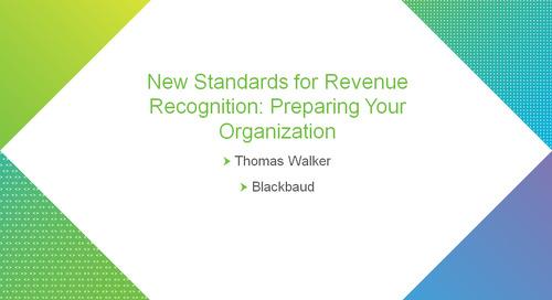 bbcon Encore: New Standards for Revenue Recognition