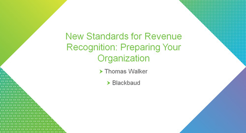 bbcon Encore: New Standards for Revenue Recognition