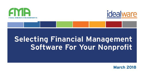 Idealware Report: Selecting Financial Management Software for Your Nonprofit