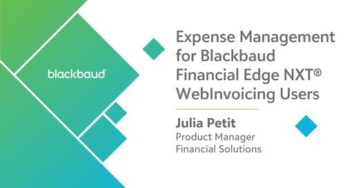 Webinar: Expense Management for WebInvoicing Users