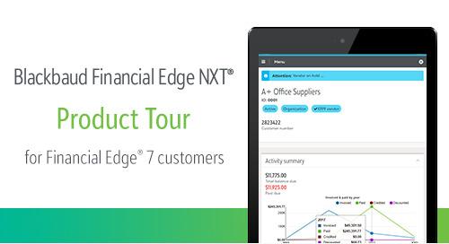 11.7.19 @ 1pm ET | Blackbaud Financial Edge NXT Product Tour