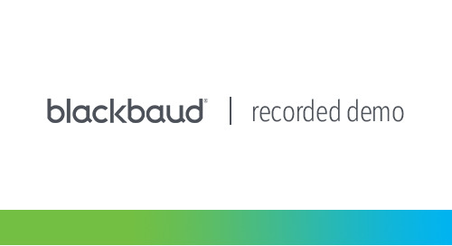 Blackbaud Financial Edge NXT for Contribution-Funded Organizations