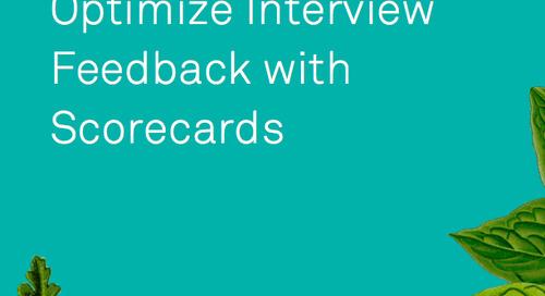 Interactive Scorecard for Interview Feedback