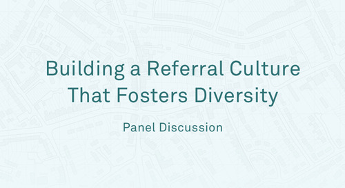 "Panel -""Building a Referral Culture that Fosters Diversity"""