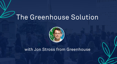 "Jon Stross - ""The Greenhouse Solution"""