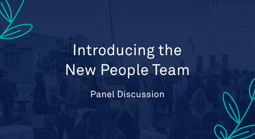"Panel - ""Introducing the New People Team"""