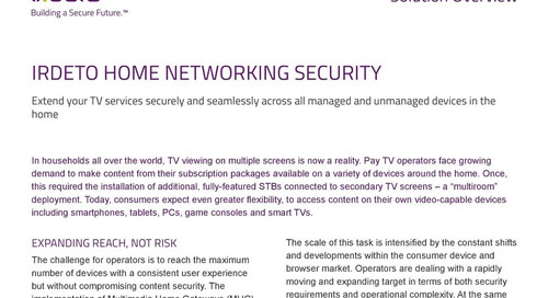 Solution overview: Irdeto Home Networking Security