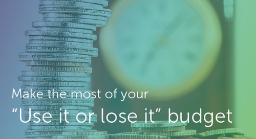 "Make the most of your ""use it or lose it"" budget"
