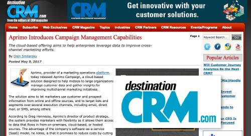 Aprimo Introduces Campaign Management Capabilities [Destination CRM]