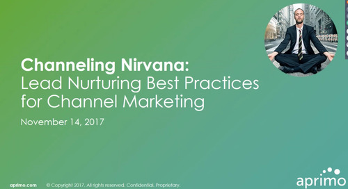 On-Demand Webinar: Channeling Nirvana: Lead Nurturing Best Practices for Channel Marketing