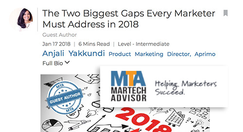 The Two Biggest Gaps Every Marketer Must Address in 2018 [MarTech Advisor]