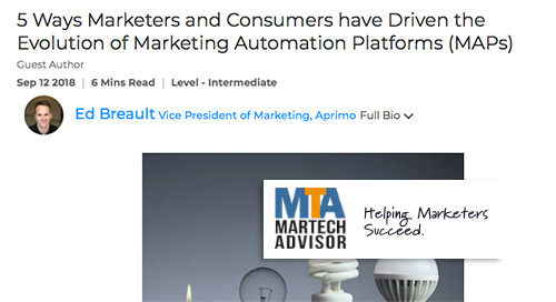 5 Ways Marketers and Consumers have Driven the Evolution of Marketing Automation Platforms (MAPs) [MarTech Advisor]