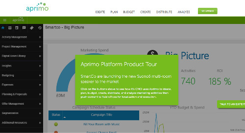 Aprimo Marketing Operations Product Tour