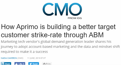 How Aprimo is building a better target customer strike-rate through ABM