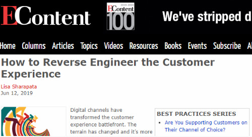 How To Reverse Engineer the Customer Experience [EContent]