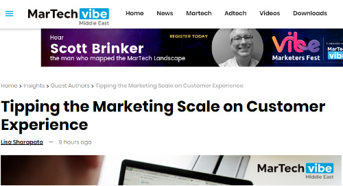 Tipping the Marketing Scale on Customer Experience [MarTech Vibe]