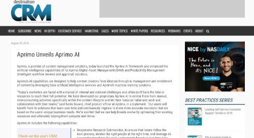 Aprimo Unveils Aprimo AI [CRM]