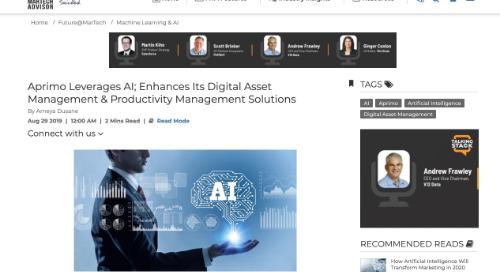Aprimo Leverages AI; Enhances Its Digital Asset Management & Productivity Management Solutions