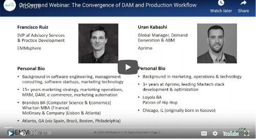 On-Demand Webinar: The Convergence of DAM and Production Workflow