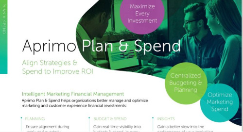 Aprimo Plan & Spend Product Data Sheet