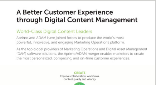 Aprimo & ADAM: A Better Customer Experience Through Digital Content Management
