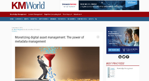 Monetizing digital asset management: The power of metadata management [KMWorld]