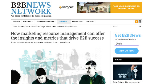 How marketing resource management can offer the insights and metrics that drive B2B success [B2B]