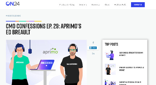 CMO Confessions Ep. 29: Aprimo's Ed Breault [ON24]