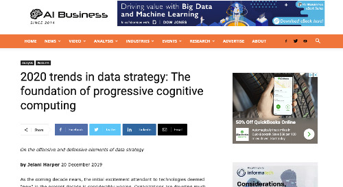 2020 trends in data strategy: The foundation of progressive cognitive computing [AI Business]