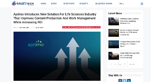 Aprimo Introduces New Solution For Life Sciences Industry That Improves Content Production And Work Management While Increasing ROI [STS]