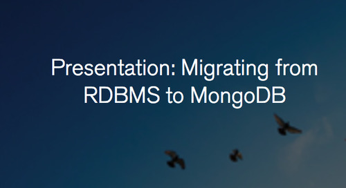 Webinar: Migrating from RDBMS to MongoDB