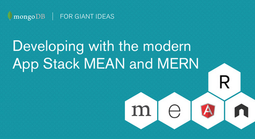 Webinar: Developing with the modern App Stack: MEAN and MERN (with Angular2 and ReactJS)