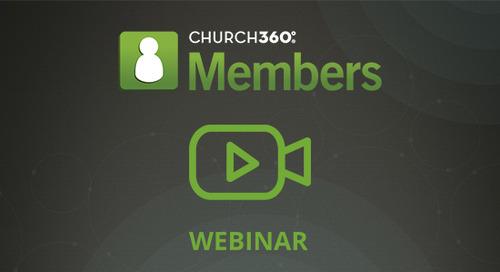 Using Data for Stewardship in Church360° Members