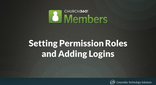 Setting Permission Roles and Adding Logins
