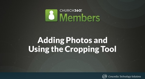 Adding Photos and Using the Cropping Tool