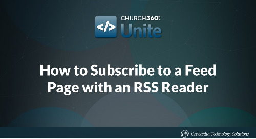 How to Subscribe to a Feed Page with an RSS Reader