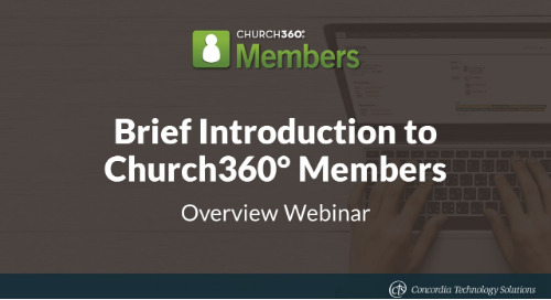 Church360° Members Overview